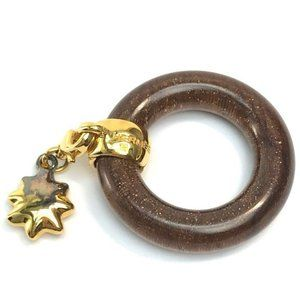 HERMES Star Tour Exhibition Wood Scarf ring